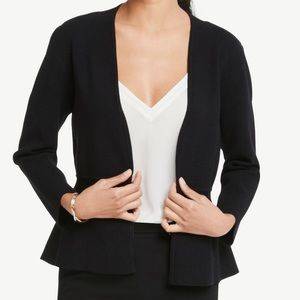Ann Taylor Factory Black Sweater Jacket